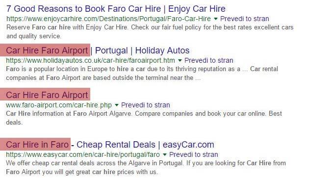 Car hire faro results
