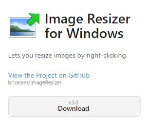 Image resize for windows download gumb